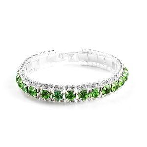 Jewelry - Green Rhinestone Crystal Open Bracelet